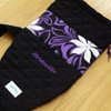 Custom outrigger canoe paddle bag, purple tiare, with embroidery
