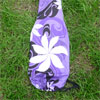 Custom stand up paddle bag, purple with tiare